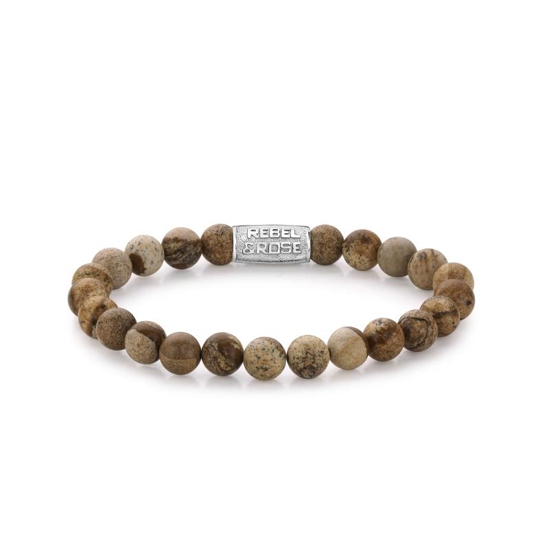 Woodstock 8mm stone bracelet - Rebel & Rose