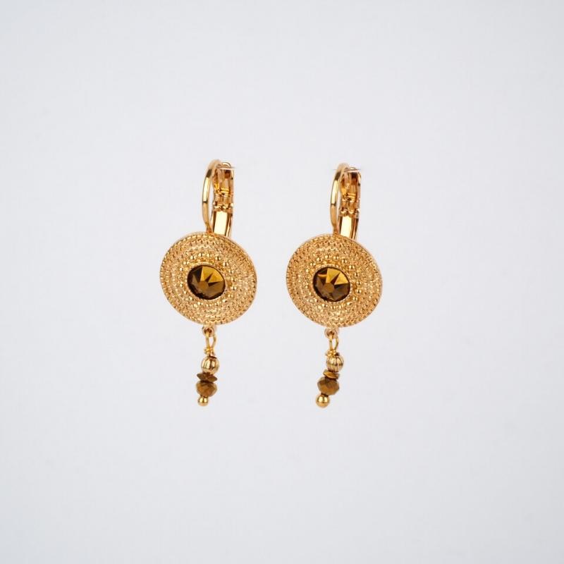 Sleeper golden earrings -...