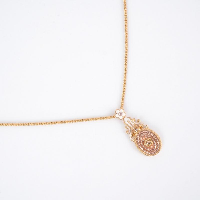 Collier pendentif perles du...