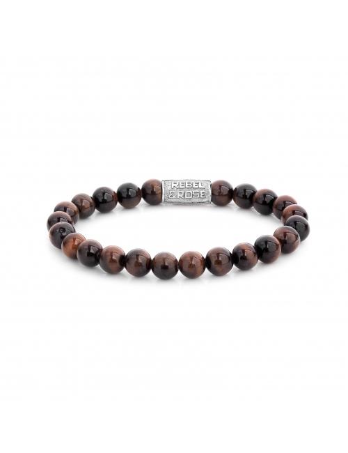 Tiger Red 8mm stone bracelet - Rebel & Rose