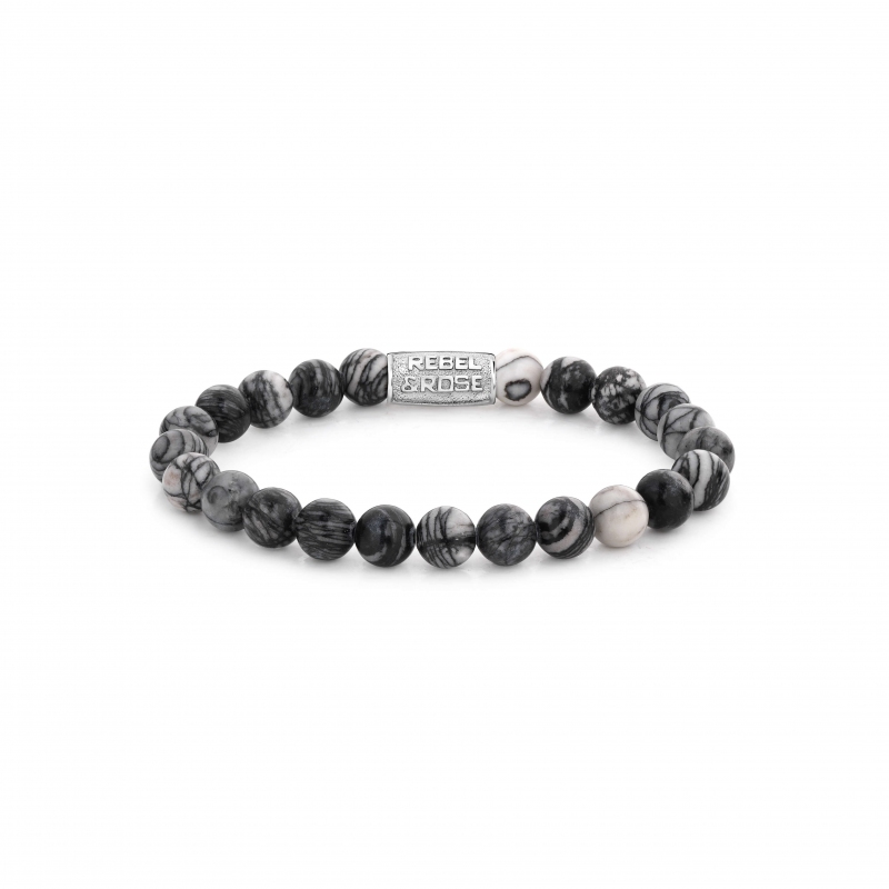 Black Wolf 8mm bracelet - Rebel & Rose