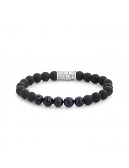 Matt Blue Night 8mm bracelet - Rebel & Rose