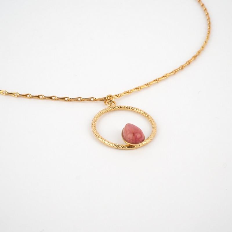 Golden necklace cornaline...