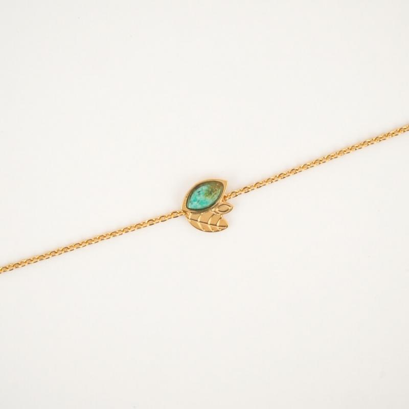 Bracelet chaîne alice doré - Aurélie joliff