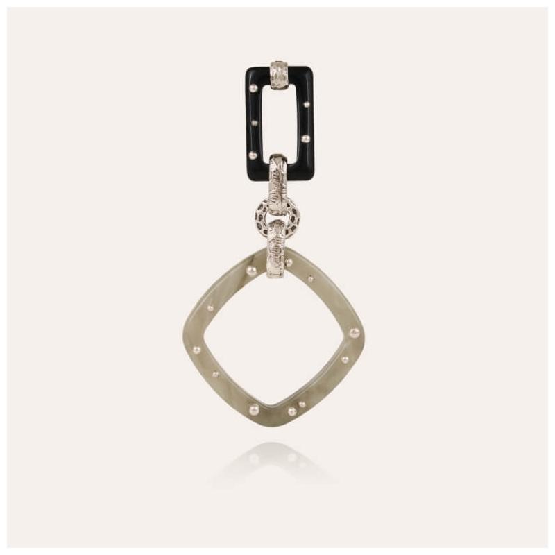 Silver earrings escale GM...