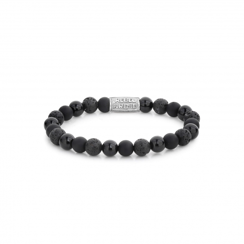 Bracelet Black Rocks 8mm -...