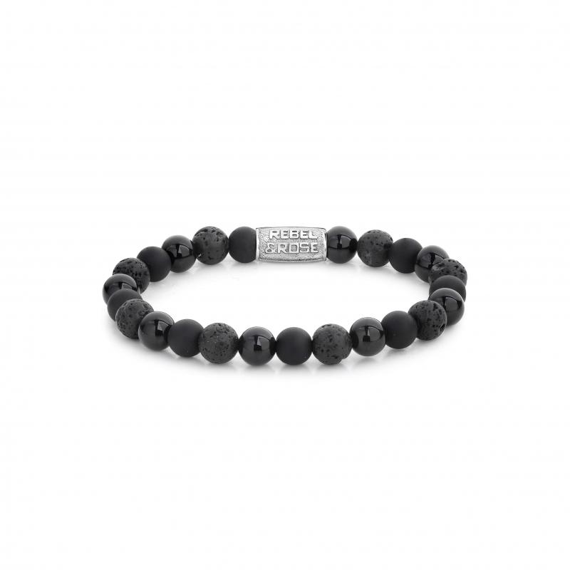 Black Rocks 8mm bracelet - Rebel & Rose