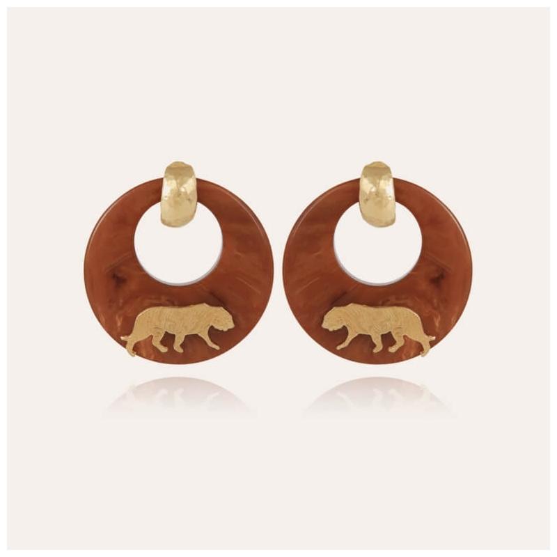 Boucles d'oreilles Tigre...