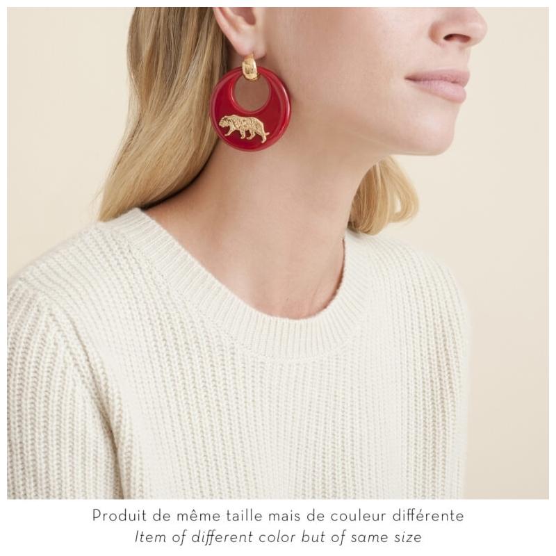Gold earrings acetate...