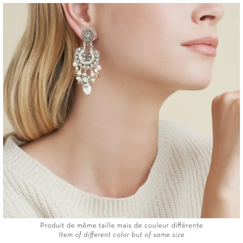 Silver earrings Aicha  -...