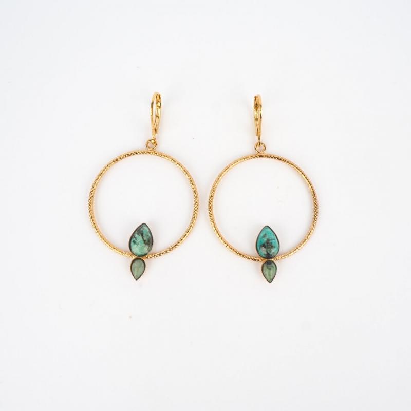 Gold earrings Fiji...