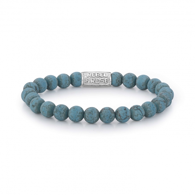 Matt Turquoise Delight bracelet - 8mm- Rebel & Rose