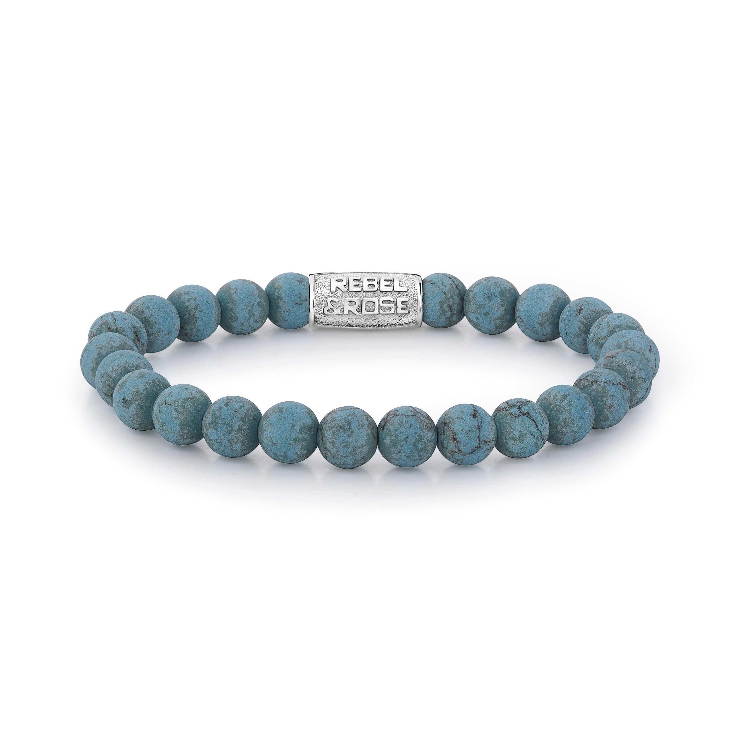 Bracelet Mad Turquoise Delight 8mm - Rebel & Rose