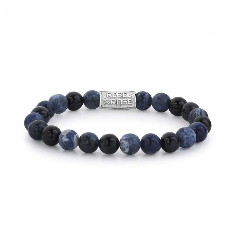 Blue Rocks 8mm bracelet -...
