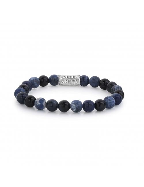 Blue Rocks 8mm bracelet - Rebel & Rose