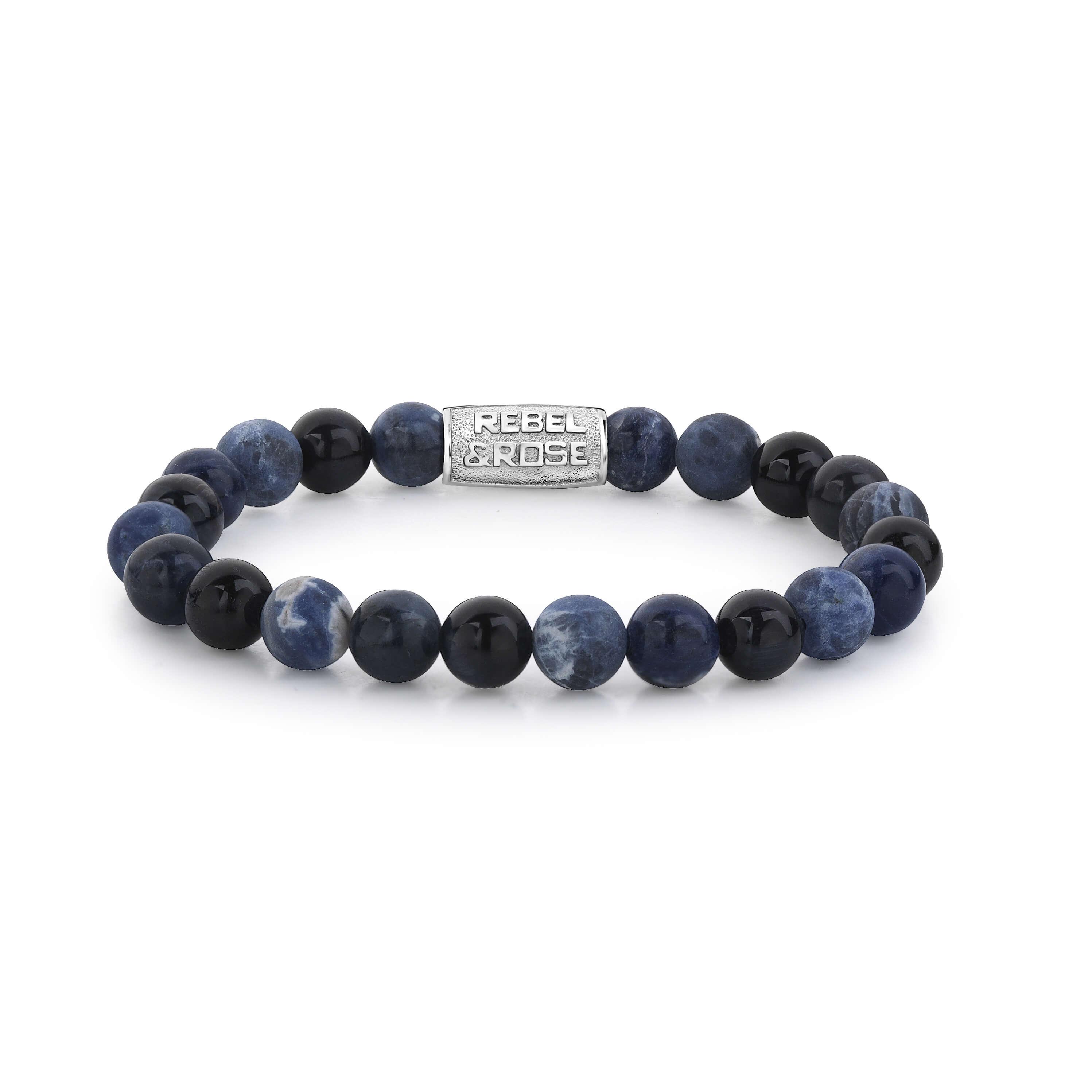 Bracelet Blue Rocks 8mm - Rebel & Rose