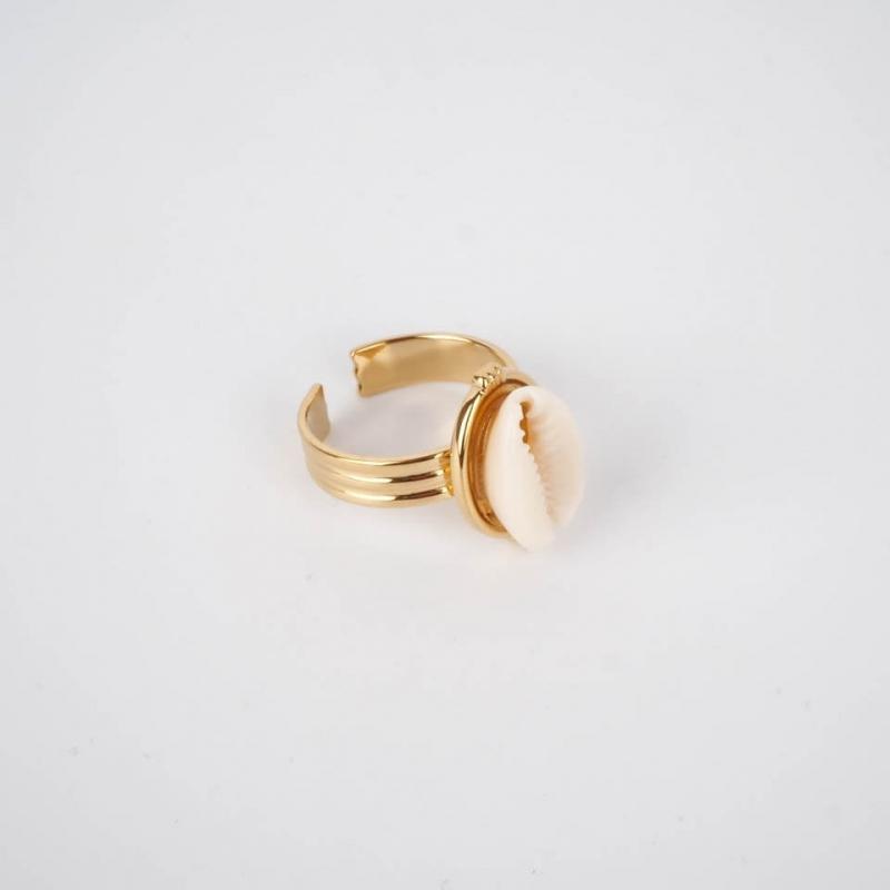 Belina ring in steel -...