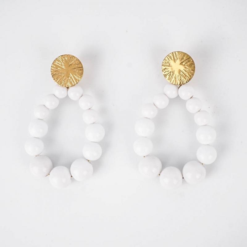 White Adonis earrings in...