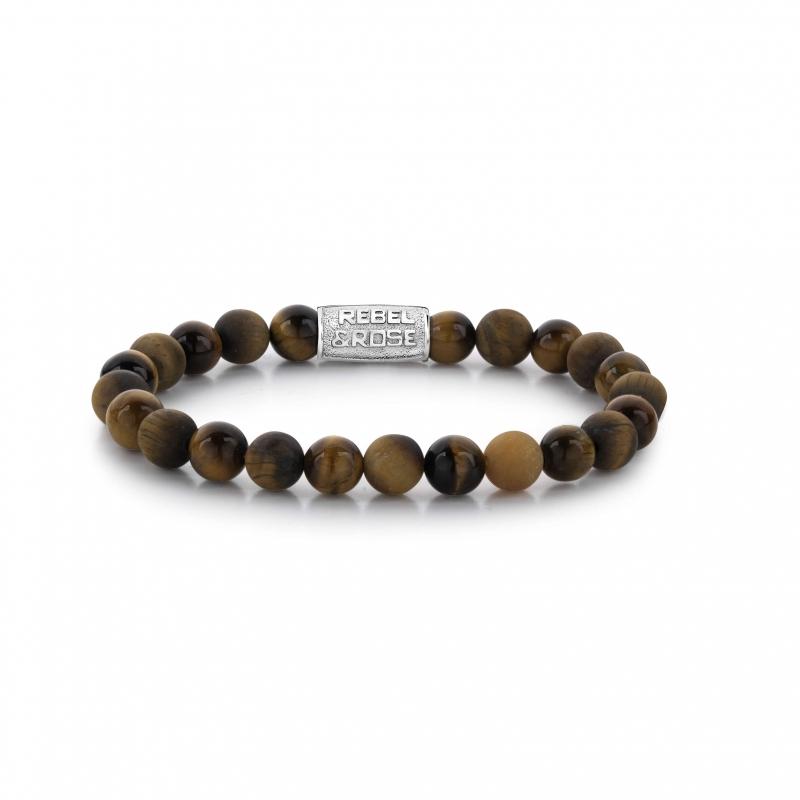 Tiger Rocks 8mm bracelet -...