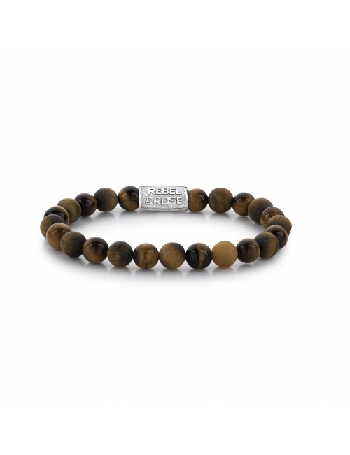 Tiger Rocks 8mm bracelet - Rebel & Rose