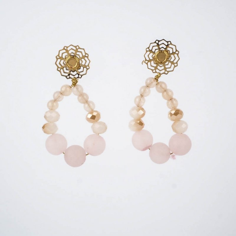 Rose quartz Alma earrings...