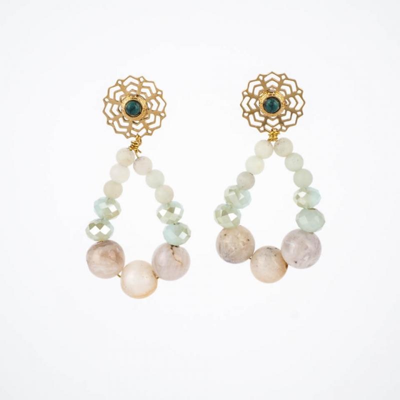 Amazonite Alma earrings in...