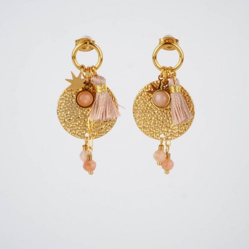 Phoebe earrings in steel -...