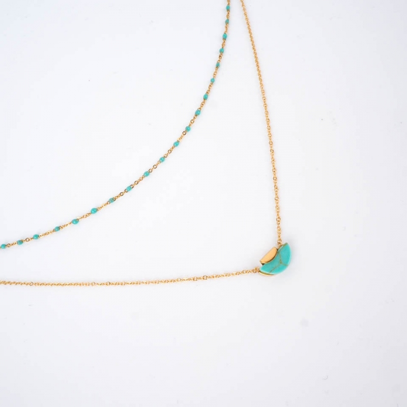 Apollon necklace in steel -...