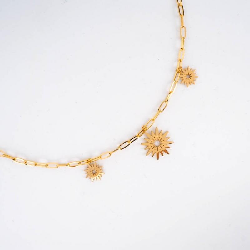 Ekaitz necklace in steel -...