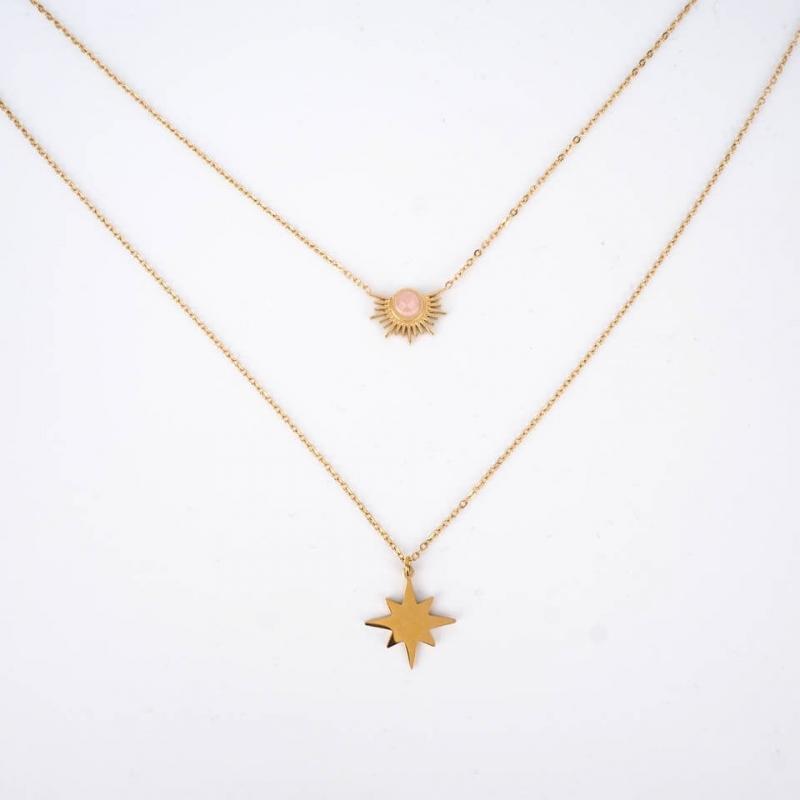 Nestor necklace in steel -...