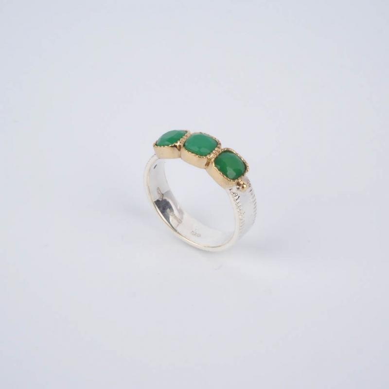 Green Lavinia ethnic ring...