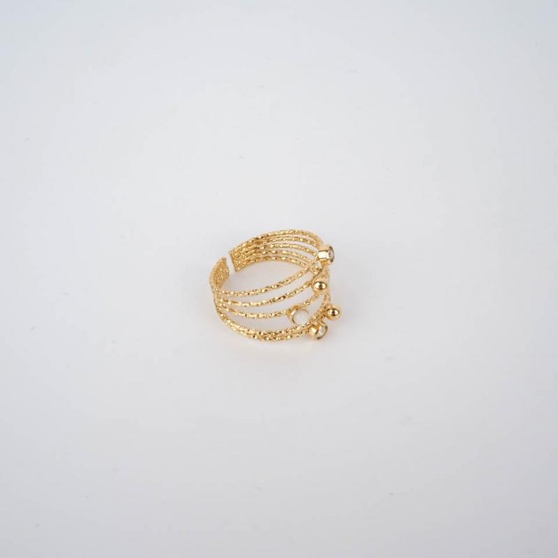 Ninon ring gold steel - Zag...