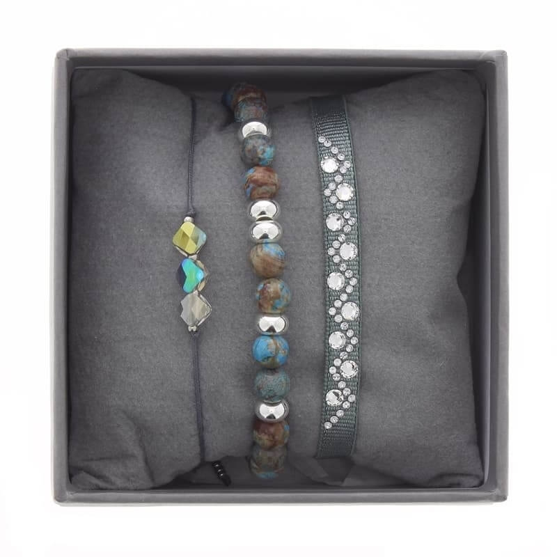 Strass box 3 bleu gris - Les Interchangeables