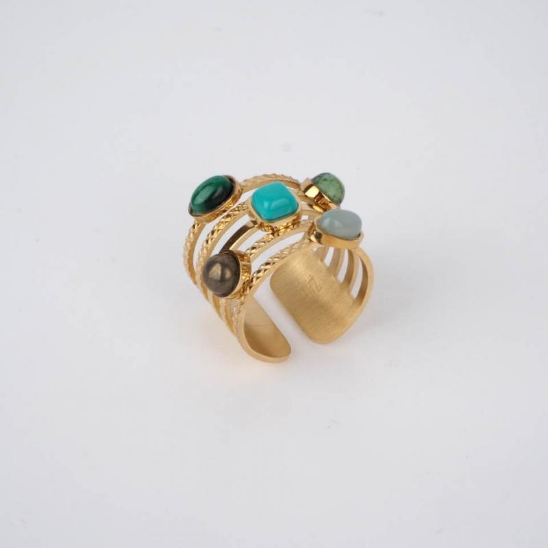 Hestia turquoise steel gold...