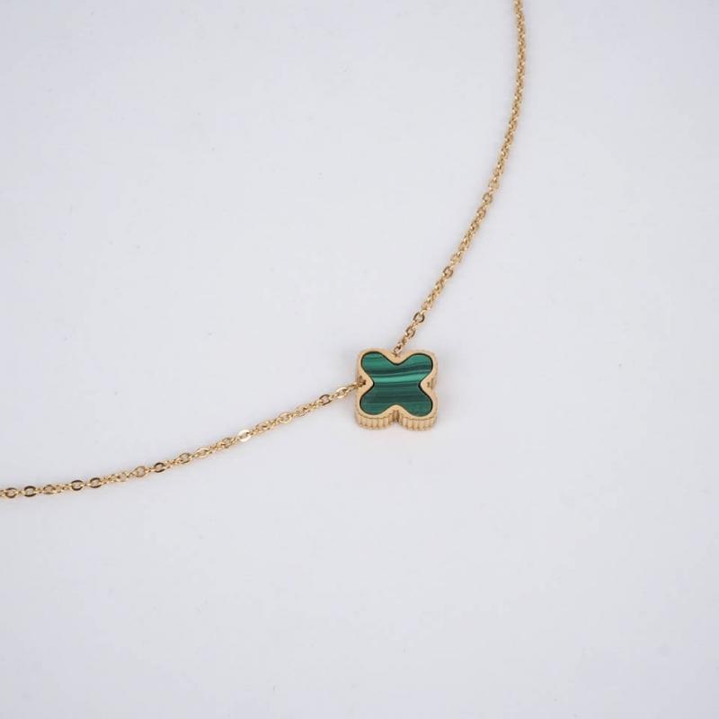 Bonnie necklace green steel...