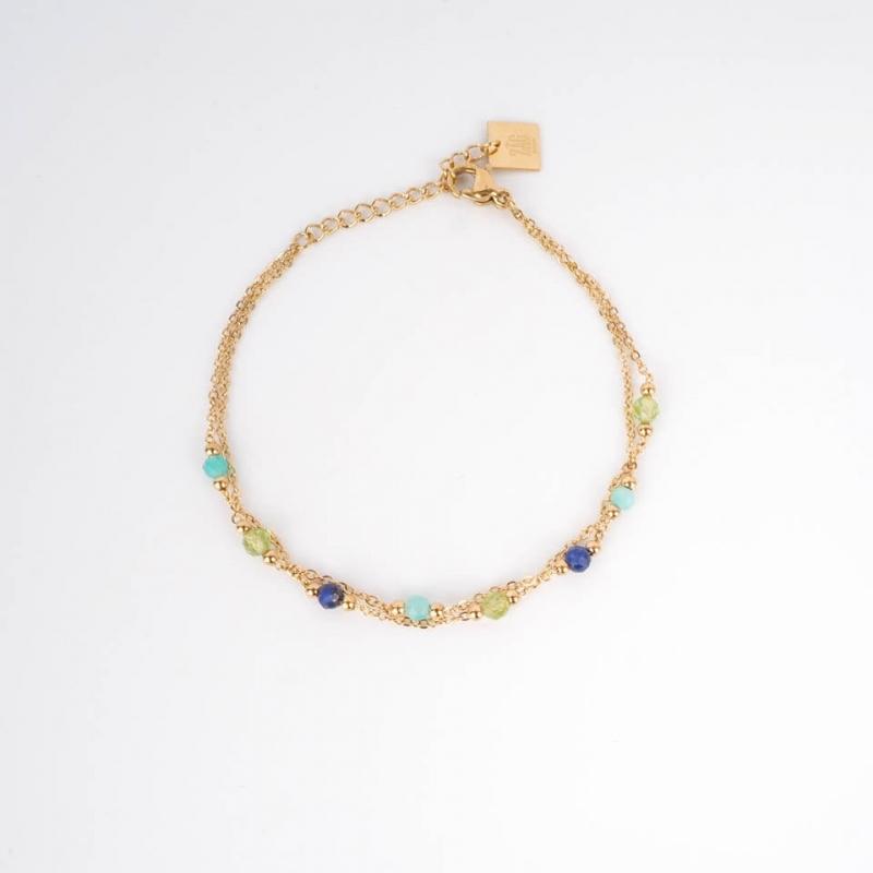 Falls bracelet steel blue...