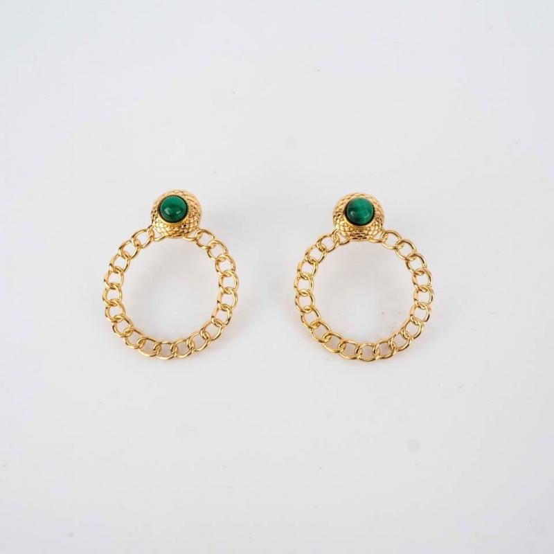 Green Mani earrings steel...