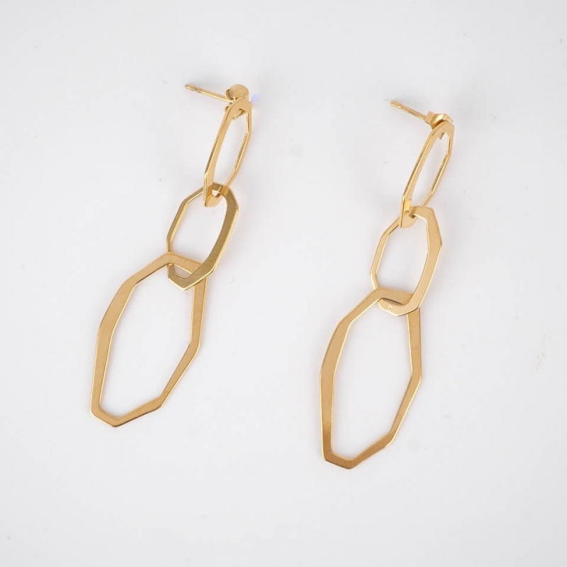 Jezabel earrings steel gold...