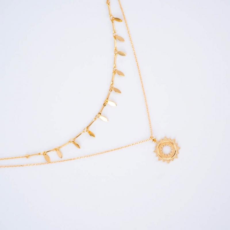 Double row necklace Episun...