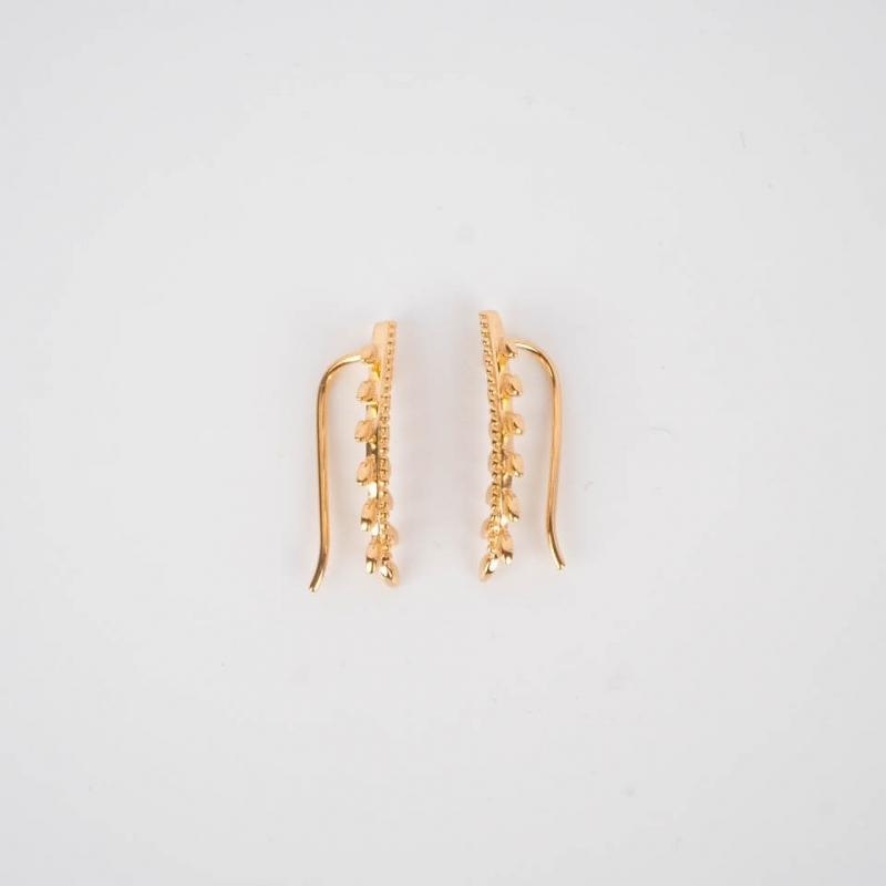 Gold earcuff earrings -...