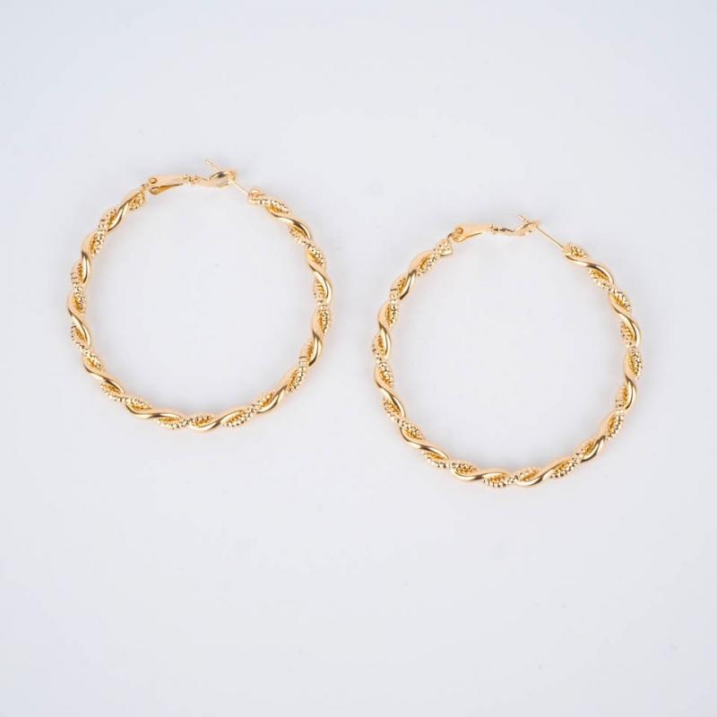 Eve hoop earrings gold -...