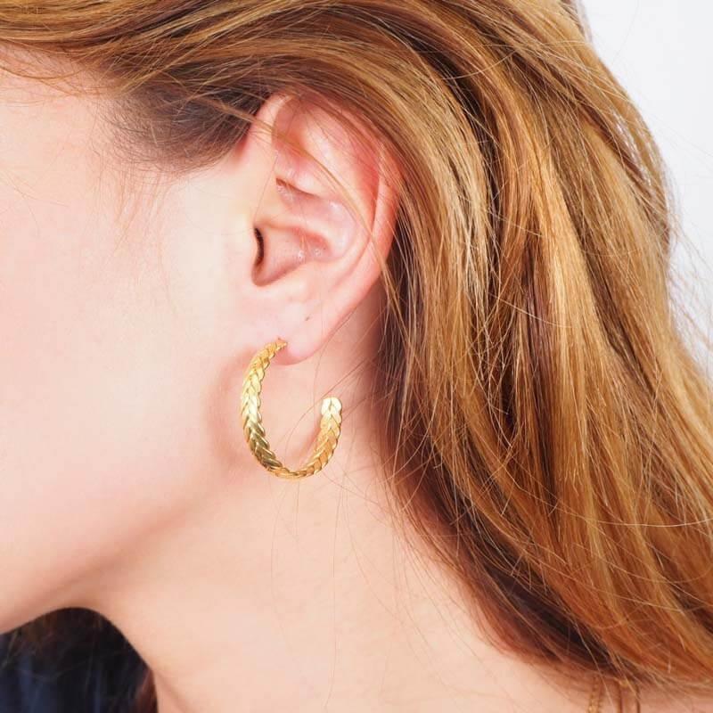 Benoit hoop earrings steel...