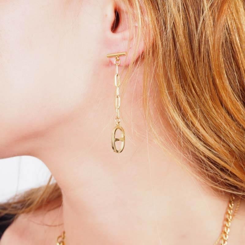 Marina silver earrings -...
