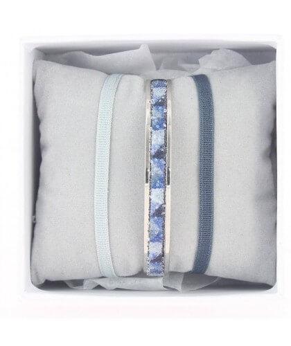 Coffret jonc ruban 4mm bleu - Les Interchangeables