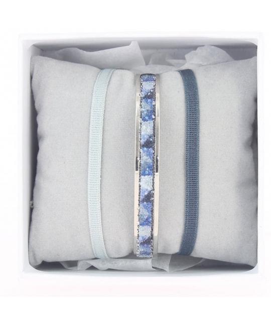 Coffret jonc ruban 4mm bleu - Les Interchangeables - Les Interchangeables