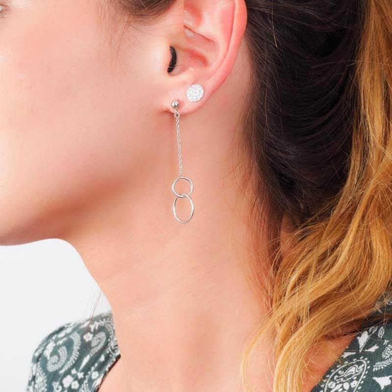 Boucles d'oreilles double...