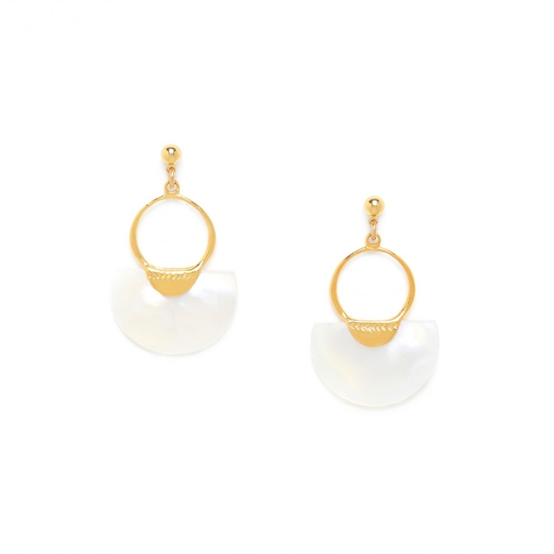 Maria earrings gilded with...
