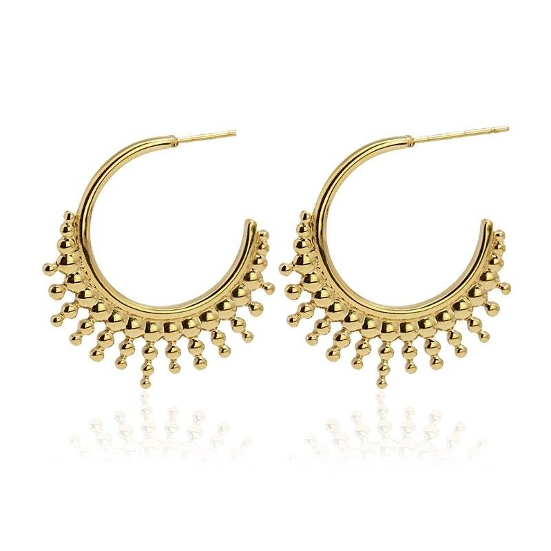 Sunshine gold earrings -...