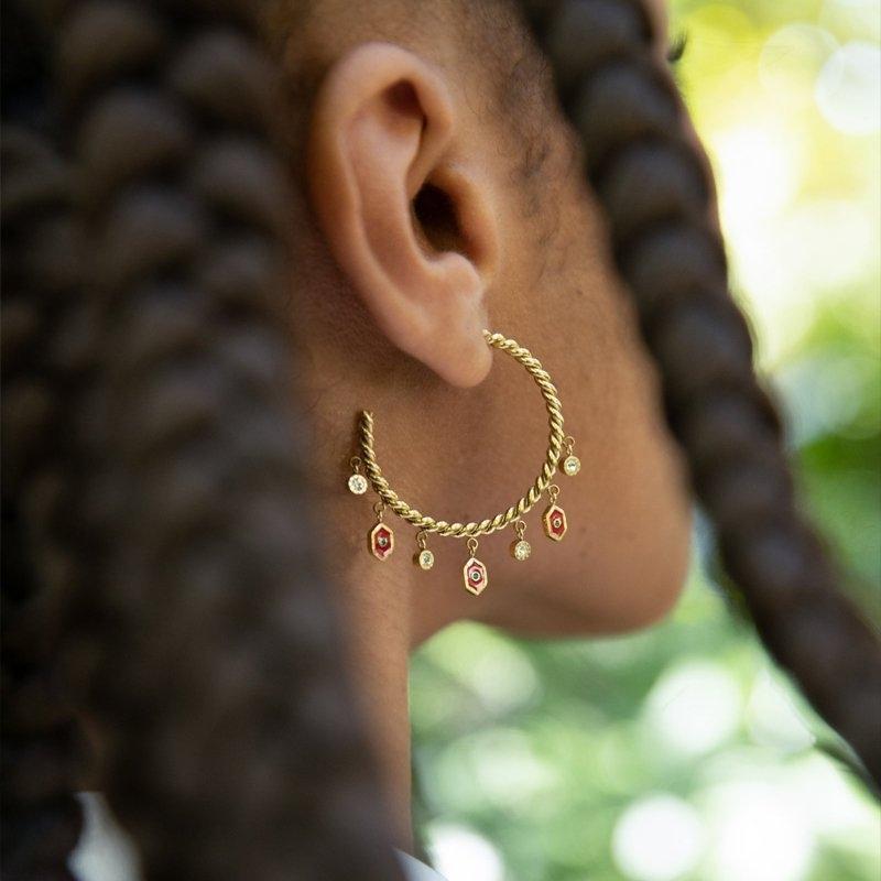 Boucles d'oreilles créoles...