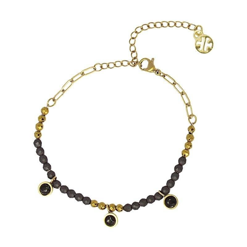 Bracelet pierre hématite -...